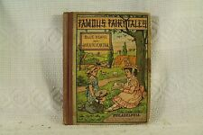 antique old Children's book Famous Fairy Tales Blue Beard Jack & the Bean Stalk