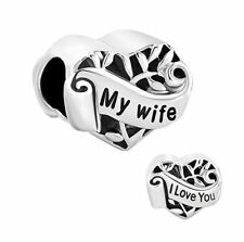 F/Pandora Bracelet Charm European Jewelry Silver Plated Heart Charms @ LOVE WIFE