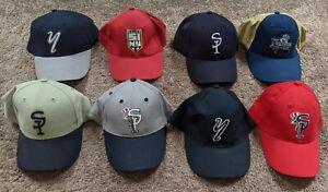 Staten Island New York Yankees Minor League Baseball Vintage Hat Cap Lot of 8