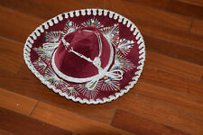 Pigalle Mexican Hat Mariachi Sombrero Made in Mexico Child Size Maroon Velvet