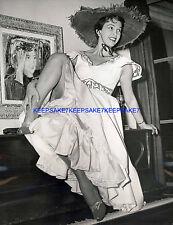 SINGER-ACTRESS DIANE ADRIAN 1950 PHOTO UPSKIRT LEGGY PHOTO A-DA1