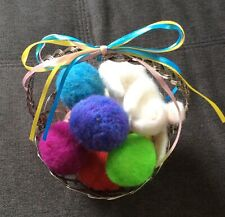Easter Sping Decor Bunny Eggs Basket Needle Felted Wool Rabbit Handmade Ooak