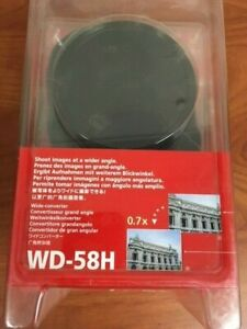 Canon WD-58H 58mm 0.7x Wide Converter Lens with Lens Cover, Missing Hood