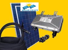 500W PV Réseau Photovoltaïque Maison toit plat solaires Onduleur +vis de Montage
