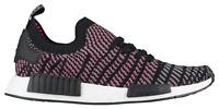 Adidas NMD R1 STLT PK Primeknit CQ2386 Black Grey Solar Pink Mens Womens New