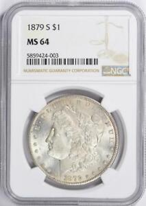 1879-S Morgan Silver Dollar - NGC MS-64 - Certified Mint State 64