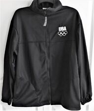 United States Olympic Committee USA Zipper Up Track Jacket-Black, Size L