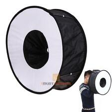 "18""/45cm Foldable Circular Macro Ring Round Softbox Diffuser for Speedlite Flash"