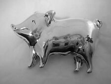 PIG PIN IN STERLING SILVER ALL HIGH POLISHED FINISH