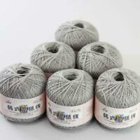 Sale New 6Ballsx50g Thread Size8 Crochet Cotton Yarn Hand Embroidery Knitting 22