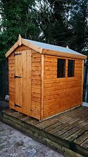 "6X4 APEX WOODEN GARDEN SHED  13MM T/G 3X2 CLS FRAMING 1"" THICK FLOOR"