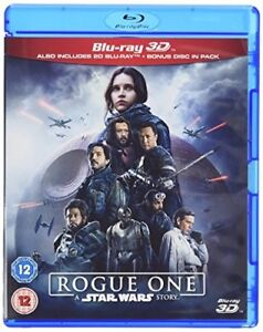 Rogue One: A Star Wars Story 3D [BR3D + Blu-ray, Region Free Disney Bonus Pack]