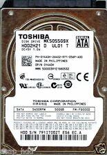 TOSHIBA SATA 500GB MK5055GSX P/N: HDD2H21 D UL01 T F/W: FG000D