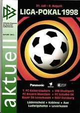 DFB-Ligapokal 1998 Bayern München, VfB Stuttgart, Schalke 04, MSV Duisburg, ...