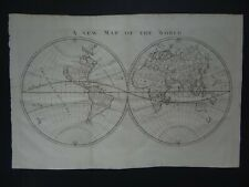 1703 Peter Heylyn Atlas World map A New Map of the World