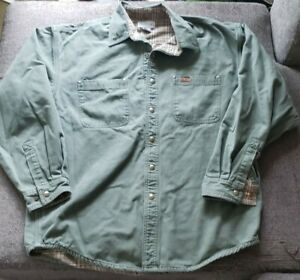 Carhartt S96 Mos Lined Shirt large  Nice