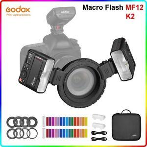 Godox MF12 K2 Macro Flash 2.4G wireless Speedlite For Canon Nikon Sony Fujifilm