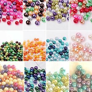Perlen-Farbmischungen Schmuck basteln DIY bunt rund Glasperle  4mm 6mm 8mm SaWi