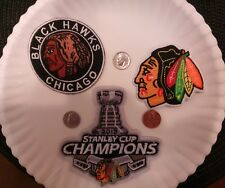 (3) Chicago Blackhawks Vintage Embroidered Iron On Patches Patch lot NHL