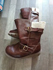 Heavenly Feet Oxblood Mid Calf Boots Size 7