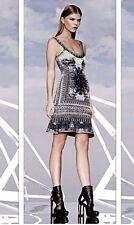 NEW HERVE LEGER IVANA PHOTOGRAPHIC JUCQUARD DRESS HEG61B53 SIZE M $1690.00