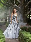 Black/White Applique Wedding Dresses Bridal Gown Quinceanera Ball Gown Prom