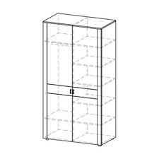 Classic Closets Wardrobe Stands Cottage Wardrobe Wood Cabinet LU-D2