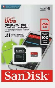 Sandisk Ultra 100MB/s 256 GB Micro SD SDXC Class 10 Memory Card