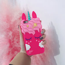 Girls Rose Pink Unicorn Case for iPhone X - FREE SHIPPING