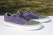 2000's Purple and Gray Vans, Low Cut. Men's Size 9, Used
