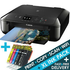 CANON MG5750 3-in-1 Wireless Wifi Colour Printer Apple AirPrint + 1 Set XL Inks