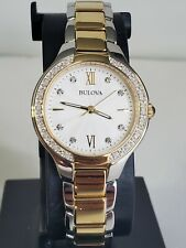 Bulova 98R221 Diamonds bezel /face Two Tone Women'sWatch $399.