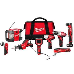 Milwaukee 2495-28 M12 12V Cordless Power Lithium-Ion 8-Tool Combo Kit