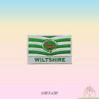 WILTSHIRE UK County Flag With Name Embroidered Iron On Patch Sew On Badge