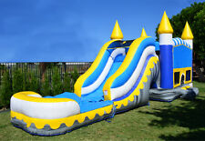 Commercial Grade 13' x 35' Skyline Wet Dry Combo Bounce House Waterslide Games