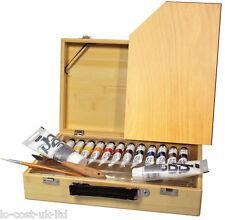 PEBEO ARTIST HIGH VISCOSITY STUDIO ACRYLIC PAINT 17 PCS WOODEN ATELIER BOX SET