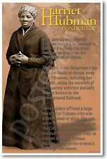 NEW African American History Classroom POSTER - Harriet Tubman - Conductor