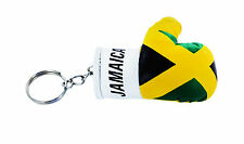 mini boxing gloves keychain keyring key chain ring NEW leather Flag JAMAICA