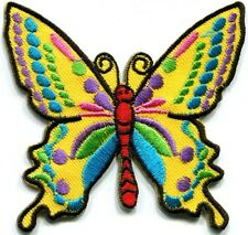 Butterfly 70s hippie boho retro love embroidered applique iron-on patch G-25