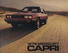 1979 Mercury Capri Sales Brochure Book RS Turbo Ghia