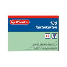 100 Karteikarte Karteikarten A5 liniert grün Herlitz