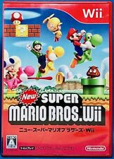 New Super Mario Bros. Wii - Nintendo Classical Platforming Game from Japan F/S