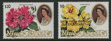 Niue  1990   Scott #   594-595     Mint Never Hinged Set