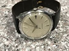 VINTAGE 1962 SS BULOVA EARLY WATERPROOF ANTI-MAGNETIC WATCH . SERVICED