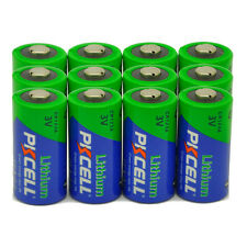 12 x PKCELL CR123A 3V Li-MnO2 Photo Battery 123 CR123 DL123 CR17345 Camera