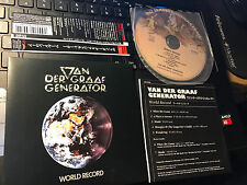 "Van der Graaf Generator ""World Record"" JAPAN MINI-LP cd VJCP-68763 7 tracks"
