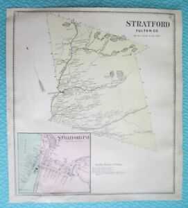 Vintage 1868 Map – Stratford in Montgomery & Fulton Counties, NY