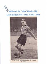 JOHN CHARLES LEEDS UNITED 1948-1957 & 1962-63 RARE ORIGINAL HAND SIGNED PICTURE