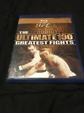 UFC: The Ultimate 100 Greatest Fights (Blu-Ray, 2009) Very Good Condition