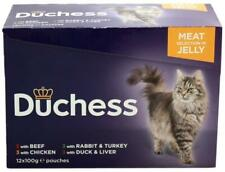 4 x Duchess Meat Selection In Jelly 12x100g Pouches Cat Food, 48 pouches in tota
